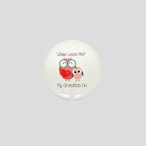 Owl Grandkids Mini Button