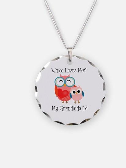 Owl Grandkids Necklace