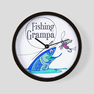 Fishing Grampa Wall Clock