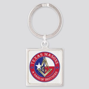 Texas Masons. A Band of Brothers Square Keychain