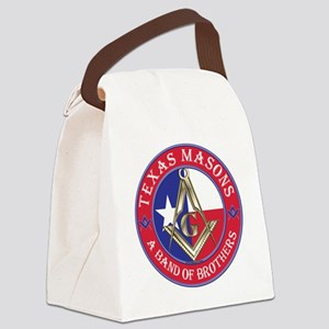 Texas Masons. A Band of Brothers Canvas Lunch Bag