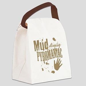 Mud Slinging Pyromaniac Canvas Lunch Bag