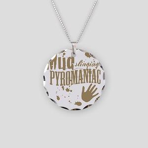 Mud Slinging Pyromaniac Necklace Circle Charm