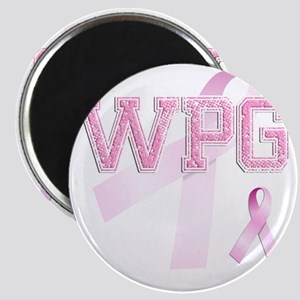 WPG initials, Pink Ribbon, Magnet