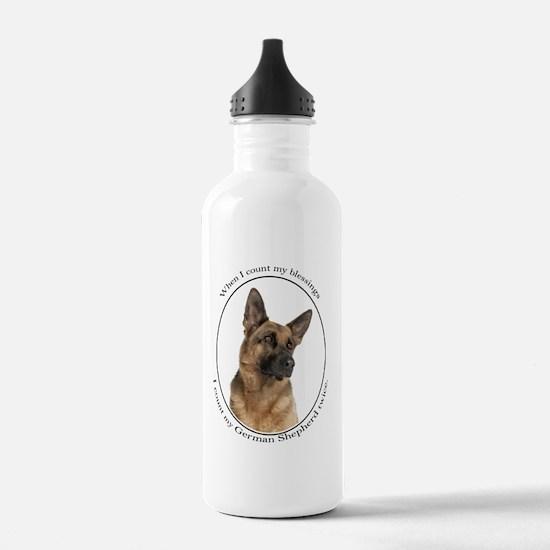 German Shepherd Sports Water Bottle