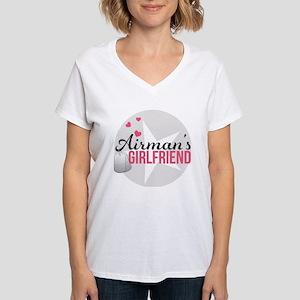 Airman's Girlfriend Women's V-Neck T-Shirt