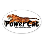 Power Cat Port Logo Oval Sticker