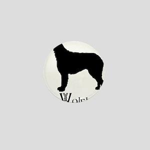 Irish Wolfhound Mini Button