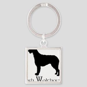 Irish Wolfhound Square Keychain