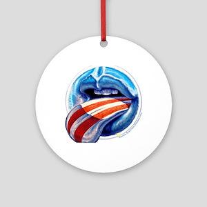 Oblahma Obama Logo Round Ornament