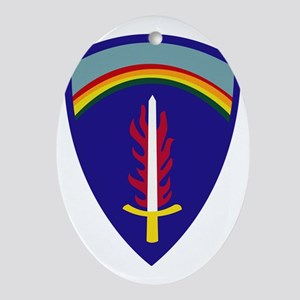 U.S. Army Europe (USAREUR) Oval Ornament