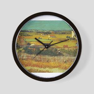 The Harvest - Van Gogh - c1888 Wall Clock