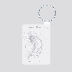 Serpent Design for Journal Aluminum Photo Keychain