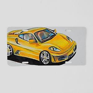 Yellow Lamborghini Aluminum License Plate