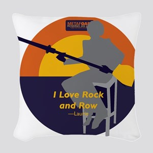 Rock and Row Woven Throw Pillow