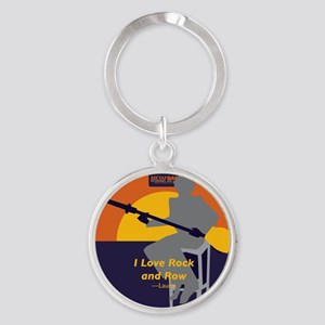 Rock and Row Round Keychain