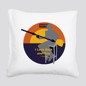 Rock and Row Square Canvas Pillow
