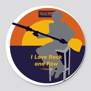 Rock and Row Round Car Magnet