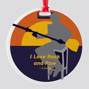 Rock and Row Round Ornament