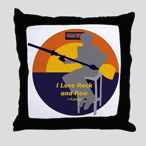 Rock and Row Throw Pillow
