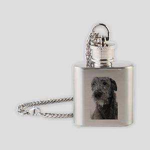 Irish Wolfhound Flask Necklace