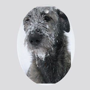 Irish Wolfhound Oval Ornament