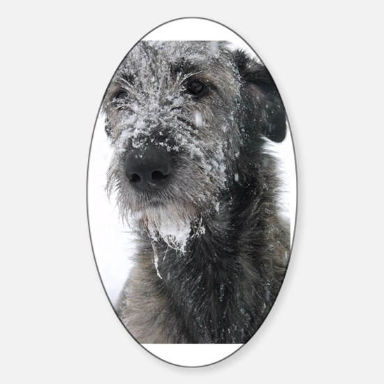 Irish Wolfhound Sticker (Oval)