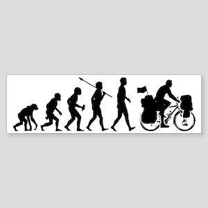Bicycle-Traveller2 Sticker (Bumper)