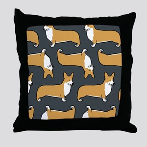 corgicoaster Throw Pillow