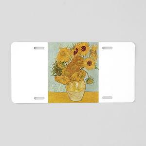 Vase with 12 sunflowers - Van Gogh - c1888 Aluminu