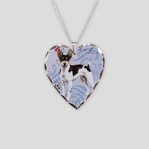 rat-tile Necklace Heart Charm