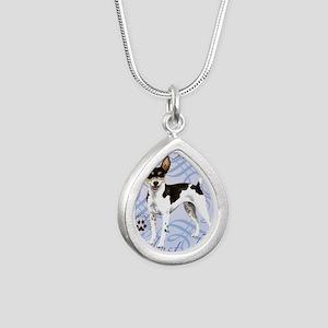 rat-tile Silver Teardrop Necklace