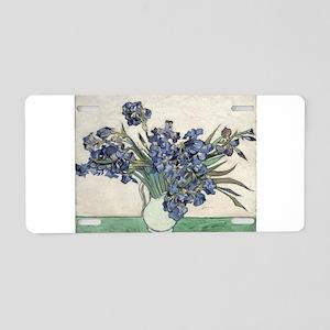 Vase with Irises - Van Gogh - c1890 Aluminum Licen