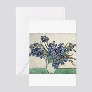 Vase with Irises - Van Gogh - c1890 Greeting Card