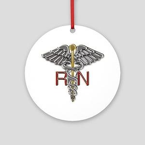 RN Medical Symbol Round Ornament
