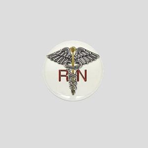 RN Medical Symbol Mini Button