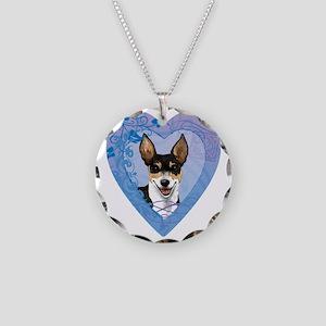 rat-heart Necklace Circle Charm