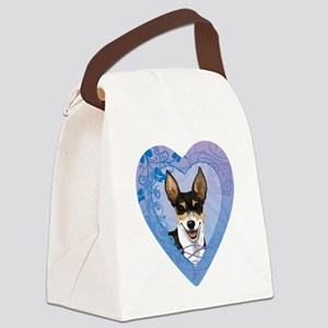 rat-heart Canvas Lunch Bag