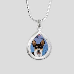 rat-card Silver Teardrop Necklace