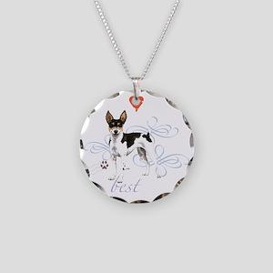 rat T1-K Necklace Circle Charm