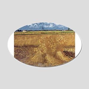 Wheat Field - Van Gogh - c1888 20x12 Oval Wall Dec