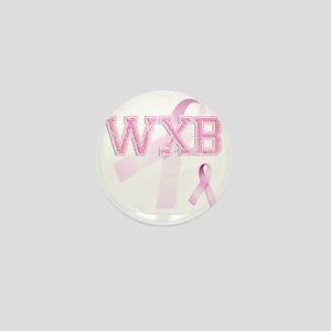 WXB initials, Pink Ribbon, Mini Button