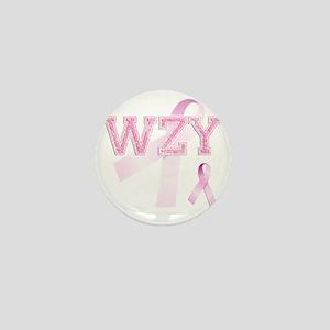 WZY initials, Pink Ribbon, Mini Button