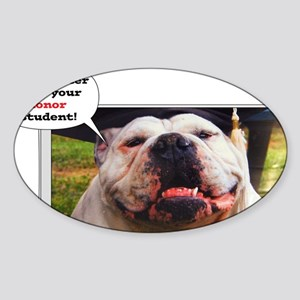 English Bulldog graduate Sticker (Oval)
