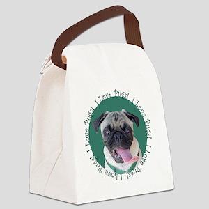 Cute I Love Pugs Canvas Lunch Bag