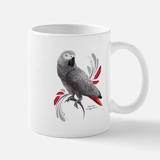 African Grey Parrot Mugs