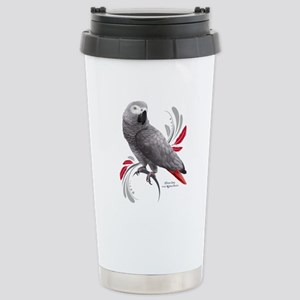 African Grey Parrot Stainless Steel Travel Mug