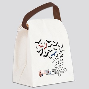 Bat Music Design Canvas Lunch Bag