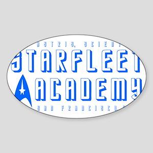 Starfleet Blu Sticker (Oval)