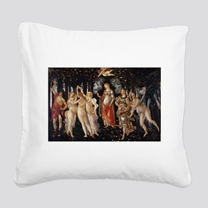 Spring - Botticelli Square Canvas Pillow